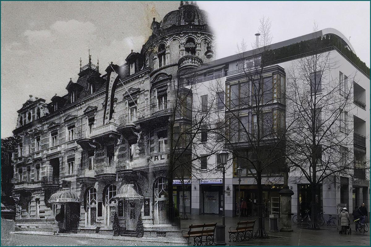 Zeitreise durchs Ahrtal Bad Neuenahr Palasthotel Poststrasse Ecke Kreuzstrasse