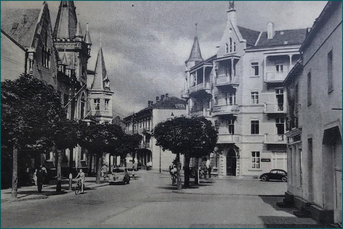 Zeitreise durchs Ahrtal Bad Neuenahr Hauptstrasse Ecke Jesuitenstrasse Kaiserhof Bonns Kronenhotel historisch