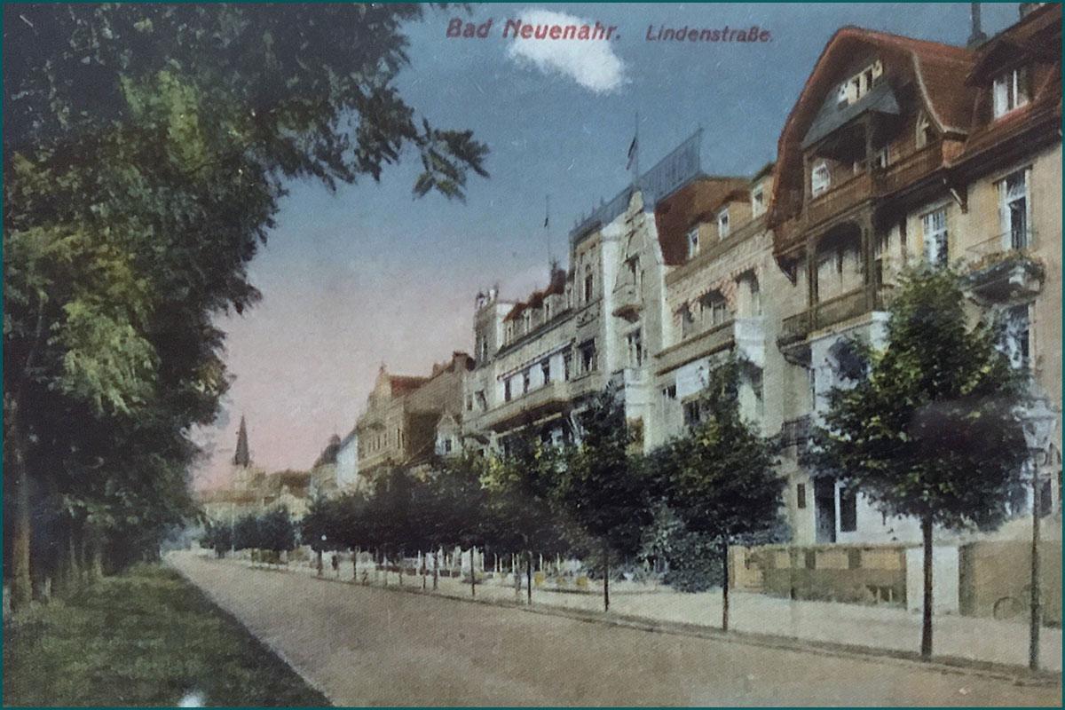Zeitreise durchs Ahrtal Bad Neuenahr Lindenstrasse Ecke Casinostrasse um die Jahrhundertwende