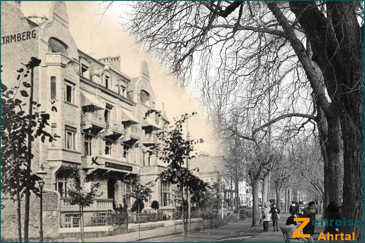 Zeitreise Ahrtal | Bad Neuenahr Georg Kreuzbergstrasse Knappschaft Hotel Hohenzollern Komposition