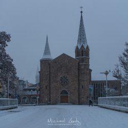 Kurgartenbrücke ev. Kirche Winter Januar 2019 Bad Neuenahr @ Michael Lentz 2019 01 31