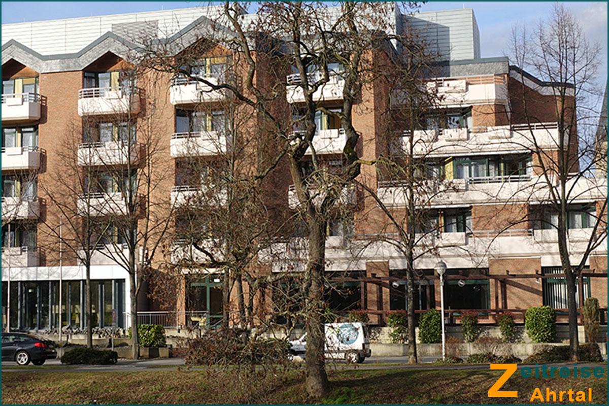 Zeitreise Ahrtal Bad Neuenahr Georg Kreuzbergstrasse Knappschaft Hotel Hohenzollern heute 2019