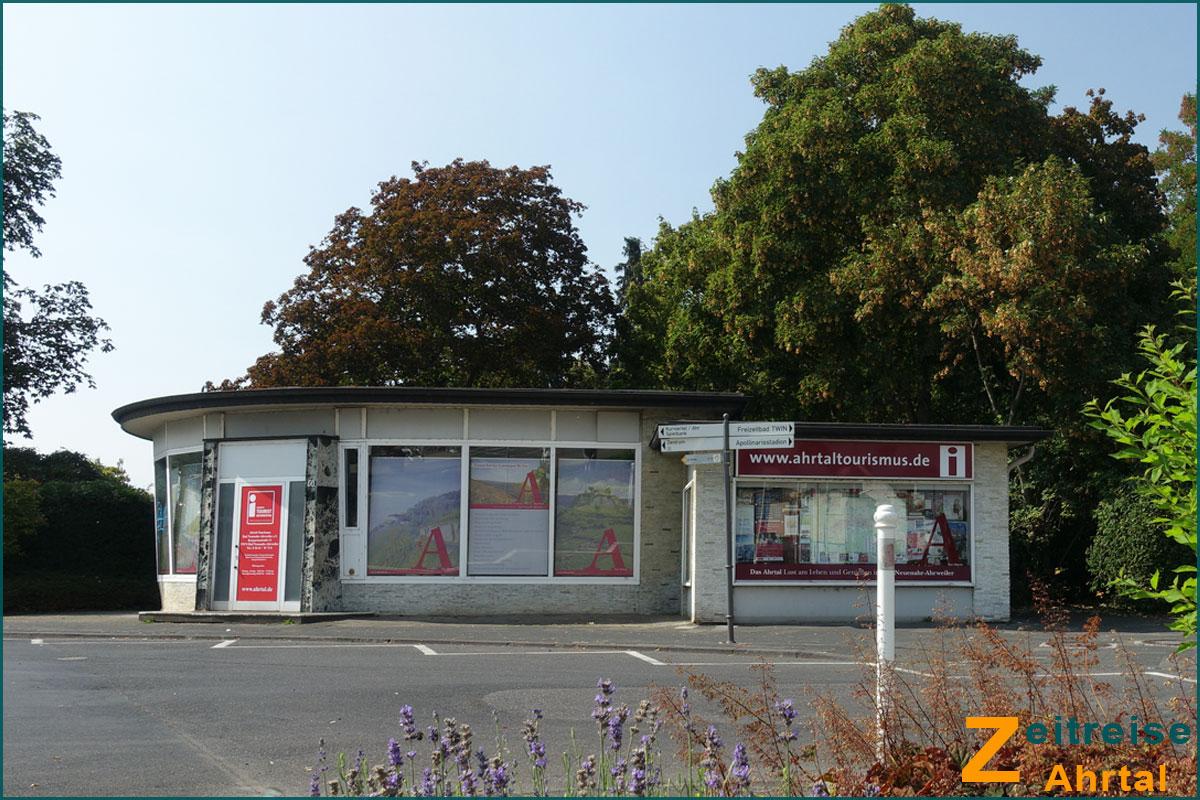 Zeitreise Ahrtal KVV Pavillon Bad Neuenahr am Bahnhof vorher 2019